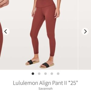 ISO Lululemon Align in Savannah rust burnt orange